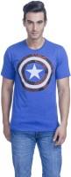 Avengers Printed Men's Round Neck Blue T-Shirt