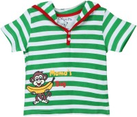 Chirpie Pie by Pantaloons Boys Striped T Shirt(Green, Pack of 1)