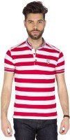 Mufti Striped Men's Henley Red, White T-Shirt