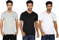 SayItLoud Printed Men's V-neck Multicolor T-Shirt(Pack of 3)