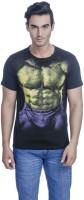 Avengers Printed Men's Round Neck Black T-Shirt