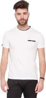 Mufti Solid Men Round Neck White T-Shirt