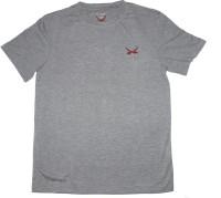 2swords Solid Men Round Neck Grey T-Shirt