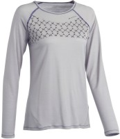 Quechua Printed Womens Round Neck Grey T-Shirt