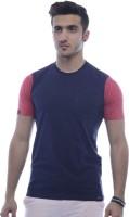 Urban Flux Solid Men Round Neck Red, Blue T-Shirt