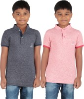 KNIT ABC Garments Boys Solid Cotton T Shirt(Pack of 2)