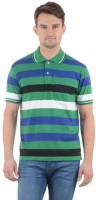 Norwood Striped Men's Polo Neck Multicolor T-Shirt