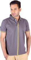 Swag Geometric Print, Striped, Solid Men's Polo Neck Multicolor T-Shirt