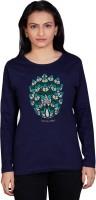 Tantra Graphic Print Womens Round Neck Dark Blue T-Shirt