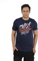 Puma Graphic Print Men's Round Neck Blue T-Shirt