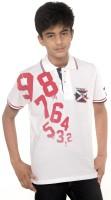 Menthol Boys Printed T Shirt(White, Pack of 1)