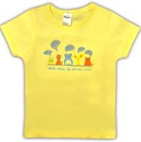 HoneyPossum Boys Printed Cotton Blend T Shirt(Beige, Pack of 1)