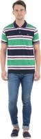 Norwood Striped Mens Polo Neck T-Shirt