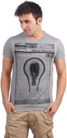 Allen Solly Printed Men Round Neck Grey T-Shirt