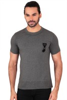 Anger Beast Printed Mens Round Neck Grey T-Shirt