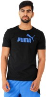 Puma Solid Men's Round Neck Black T-Shirt