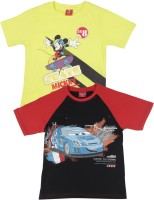 Disney Boys Printed T Shirt(Pack of 2)