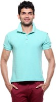 Tog Solid Men's Polo Neck Green T-Shirt