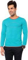 Ebry Solid Mens Henley Light Blue T-Shirt