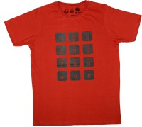 Udankhatola Printed Mens Round Neck Red T-Shirt