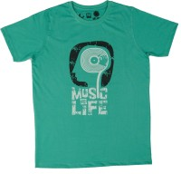 Udankhatola Printed Mens Round Neck Light Green T-Shirt