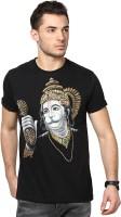Maati Graphic Print Men's Round Neck Black T-Shirt