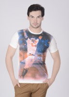Pepe Jeans Printed Men's Round Neck White T-Shirt