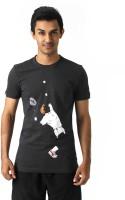 Puma Graphic Print Men's Round Neck Grey T-Shirt