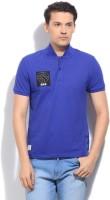 United Colors of Benetton. Solid Men's Fashion Neck Blue T-Shirt