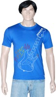 Tshirt.in Graphic Print Mens Round Neck Blue T-Shirt