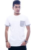 Urban Flux Solid Men Round Neck White, Grey T-Shirt