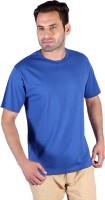 Humbert Solid Mens Round Neck Blue T-Shirt