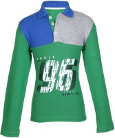Cool Quotient Boys Solid Cotton T Shirt(Green, Pack of 1)
