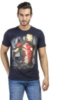 Avengers Printed Men's Round Neck Blue T-Shirt