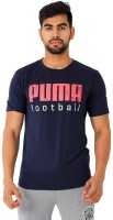 Puma Graphic Print Men's Round Neck Dark Blue T-Shirt