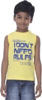 Sera Graphic Print Boys Round Neck Yellow T-Shirt