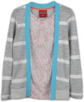 Lilliput Boys Striped T Shirt(Grey, Pack of 1)
