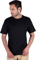 Humbert Solid Mens Round Neck Black T-Shirt