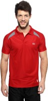 Ajile by Pantaloons Solid Men's Polo Neck Red T-Shirt