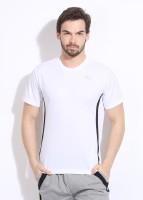Puma Solid Mens Round Neck Black, White T-Shirt