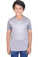 Tantra Boys Graphic Print Polyester T Shirt(Grey, Pack of 1)