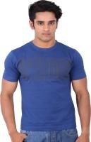 Rat Trap Printed Men Round Neck Blue T-Shirt