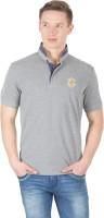 Wilkins & Tuscany Solid Men's Henley Grey T-Shirt