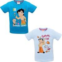 Chhota Bheem Boys Printed Cotton T Shirt(Multicolor, Pack of 2)