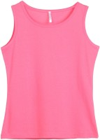 Poppers by Pantaloons Girls Printed T Shirt(Pink)