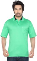 Thinc Solid Mens Polo Neck Light Green T-Shirt