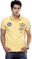 Tog Printed Men's Polo Neck Yellow T-Shirt