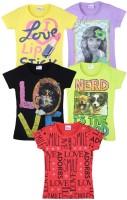 Eimoie Girls Printed T Shirt(Multicolor)