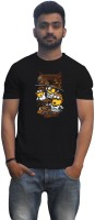 Lovely Collection Graphic Print Men's Round Neck Black T-Shirt