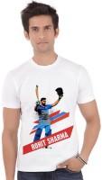 ShopMantra Graphic Print Men's Round Neck Denim White T-Shirt